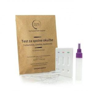 Patris Health - Test za spolne okužbe s Trichomonas, Candida in Gardnerella za samotestiranje